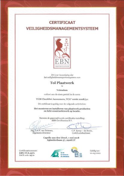 pdf certificaat VCA-2571