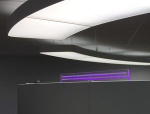 Signaalverlichting d.m.v. transparant paneel.